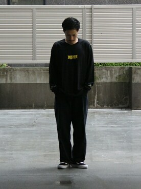 BEAUTY&YOUTH UNITED ARROWS|Masaki Meguroさんの「BY ∴ TR 1P ワイドパンツ(BEAUTY&YOUTH UNITED ARROWS)」を使ったコーディネート