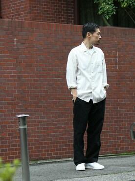 BEAUTY&YOUTH UNITED ARROWS|Masaki Meguroさんの「<Steven Alan> VIYELLA TTSL OPEN LSL/シャツ(Steven Alan)」を使ったコーディネート
