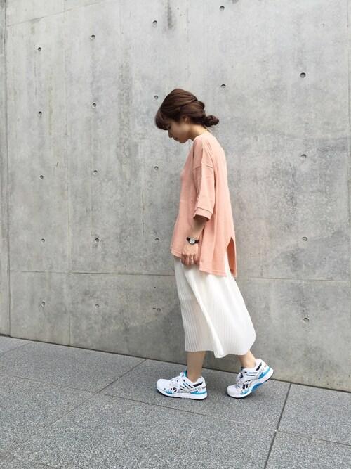 mitsukokatadaさんの「【Kastane】ひざ丈プリーツスカート(Kastane)」を使ったコーディネート