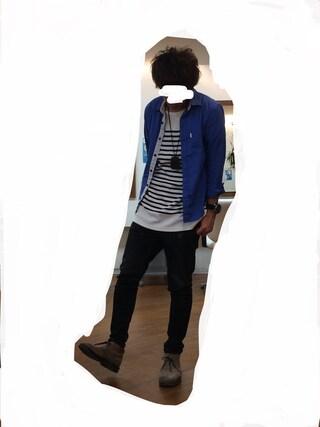 azukiさんの「リップルボーダーカットソー(THE SHOP TK|ザ ショップ ティーケー)」を使ったコーディネート