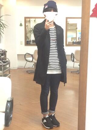 azukiさんの「STUDIOUS リネンコットンステンカラーコート MADE IN JAPAN(STUDIOUS|ステュディオス)」を使ったコーディネート