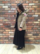 「CANADA GOOSE/カナダグース CHELSEA(CANADA GOOSE)」 using this FREAKS STORE 福岡パルコ店|七森万里 looks