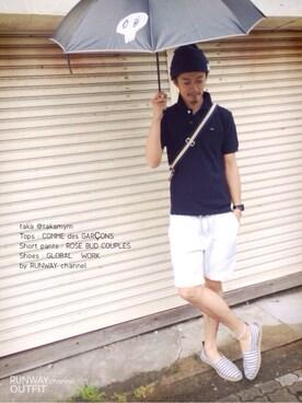 takaさんの「ポロシャツ(PLAY COMME des GARCONS)」を使ったコーディネート