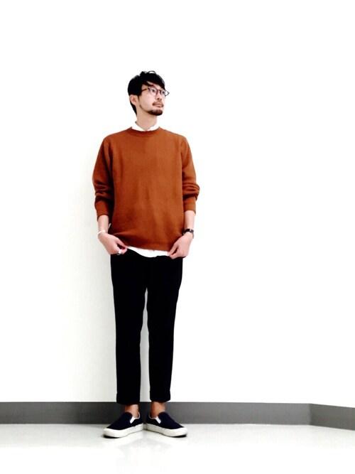 Shirou Takemotoさんの「BY テックウール アゼ ニット(BEAUTY&YOUTH UNITED ARROWS)」を使ったコーディネート