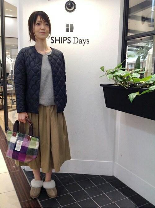 岩崎さんの「SHIPS Days:【手洗い可能】2WAYカシミヤ チュニック(SHIPS Days)」を使ったコーディネート