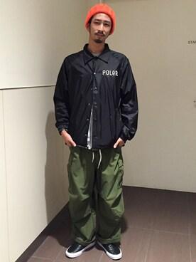 BEAVER大阪店|Junpei The  Manさんの「MANASTASH/マナスタッシュ STANDARD LOGO L/S SHIRTS (617)(MANASTASH)」を使ったコーディネート