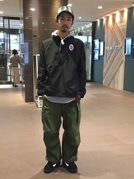 BEAVER大阪店 Junpei The  Manさんの「BURLAP OUTFITTER/バーラップアウトフィッター 別注SUPPLEX WIND SHIRT (575)(BEAVER)」を使ったコーディネート