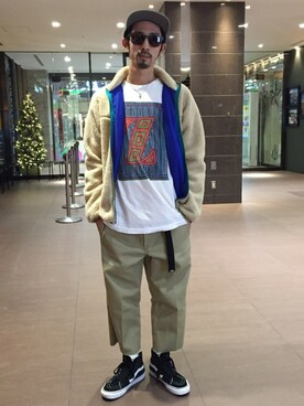 BEAVER大阪店 Junpei The  Manさんの「JIMMYZ/ジミーズ Z FRAME LS TEE (9953)(BEAVER)」を使ったコーディネート
