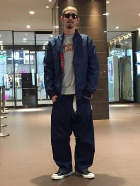 BEAVER大阪店|Junpei The  Manさんの「Champion/チャンピオン SWEAT-PRINCETON(Champion)」を使ったコーディネート