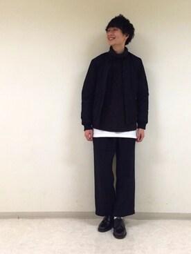 RAGEBLUE町田モディ店|中村さんのブルゾン「<シンサレート素材使用>リバーシブルMA-1/731853(RAGEBLUE|レイジブルー)」を使ったコーディネート