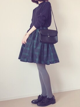 MAYUKOさんの「チェックタフタスカート(LAGUNAMOON)」を使ったコーディネート