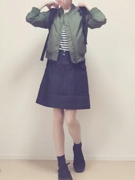 MAYUKOさんの「デニムフラップポケットスカート(The Dayz tokyo)」を使ったコーディネート