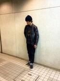 OKKIさんの「KURO/クロ/AULICK-One Wash-(KURO|クロ)」を使ったコーディネート