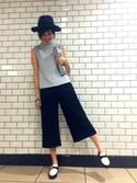 Chihiro N.さんの「ベルテッドマニッシュシューズ(RANDA|ランダ)」を使ったコーディネート