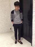 AMAKAWAさんの「片染めクルーネックTシャツ(LE JUN|ル ジュン)」を使ったコーディネート