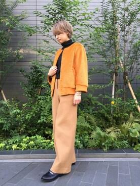 EN ROUTE FUTAKOTAMAGAWA M.Yoshidaさんの(muller of yoshiokubo ミュラー オブ ヨシオクボ)を使ったコーディネート