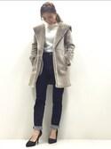 Tomomi Watanabeさんの「STUDIOUS ムートンコート(STUDIOUS|ステュディオス)」を使ったコーディネート