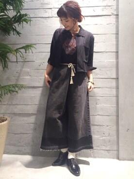 HAREヘップファイブ|SOMENOさんの「ショートシャツジャケット7分袖(HARE)」を使ったコーディネート