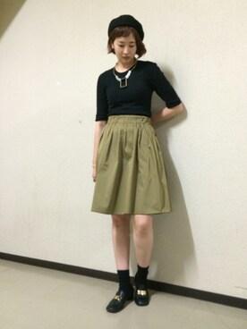 ADAM ET ROPE' 新宿LUMINE2|RihoMaekawaさんの(GUCCI|グッチ)を使ったコーディネート