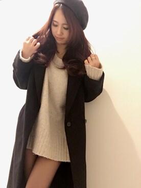 midoriさんの「サイドスリットルーズコート(MURUA)」を使ったコーディネート