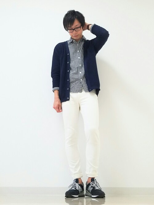 ひかるんさんの「DOORS Knit Middle Cardigan(URBAN RESEARCH DOORS MENS)」を使ったコーディネート