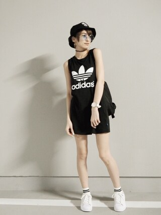 「【adidas/アディダス】 TREFOILTANKDRESS(adidas)」 using this 南明奈 looks