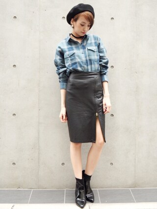 「OVERSIZE CHECK SHIRT(MOUSSY)」 using this 南明奈 looks