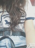 「Vintage leather belt(Topshop)」 using this BellaKaBxxx looks