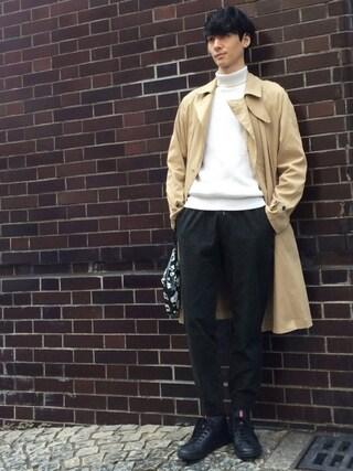 賀津 塔さんの「ダブルスプリングシャツコート(UNITED TOKYO ユナイテッドトウキョウ)」を使ったコーディネート