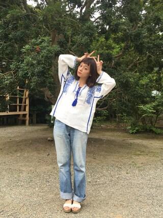 荒井愛花さんの「Wストラップサンダル(MAJESTIC LEGON|マジェスティックレゴン)」を使ったコーディネート
