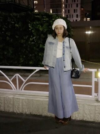 荒井愛花さんの「Factor= サマーニットベレー(Factor=|ファクターイコール)」を使ったコーディネート