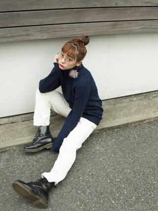 荒井愛花さんの(GU|ジーユー)を使ったコーディネート