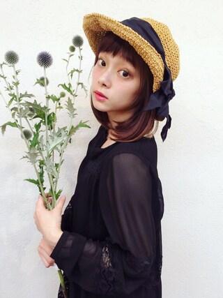 荒井愛花さんの「レースシフォンワンピース(jouetie|ジュエティ)」を使ったコーディネート