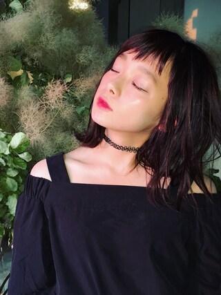 荒井愛花さんの「WEGO/タトゥチョーカーセット(WEGO|ウィゴー)」を使ったコーディネート
