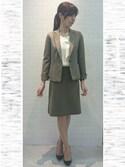 22 OCTOBRE Staffさんの「FITTYベルギーピケマーキュリースカート(22 OCTOBRE|ヴァンドゥ-・オクトーブル)」を使ったコーディネート