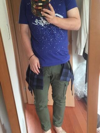 flocon de neigeさんの「LAD MUSICIAN×Fender×Lui's トリプルコラボ限定Tシャツ(Lui's|ラッドミュージシャン)」を使ったコーディネート