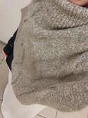 yuriiiii...さんの「ケーブル編みオフタートルニットポンチョ(and it_|アンドイット)」を使ったコーディネート