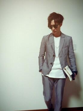 「Ray-Ban Clubmaster Square-Frame Acetate Sunglasses(Ray-Ban)」 using this Kiyoooo!!! looks