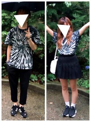 あやみん。さんの「WEGO/タイダイ染めポケTシャツ(WEGO|ウィゴー)」を使ったコーディネート