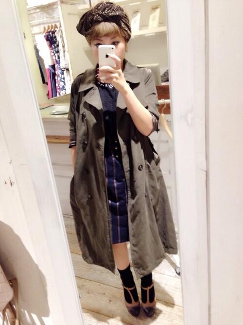 ♡ai♡さんの「ライナー付ロングトレンチコート(OLIVEdesOLIVE)」を使ったコーディネート