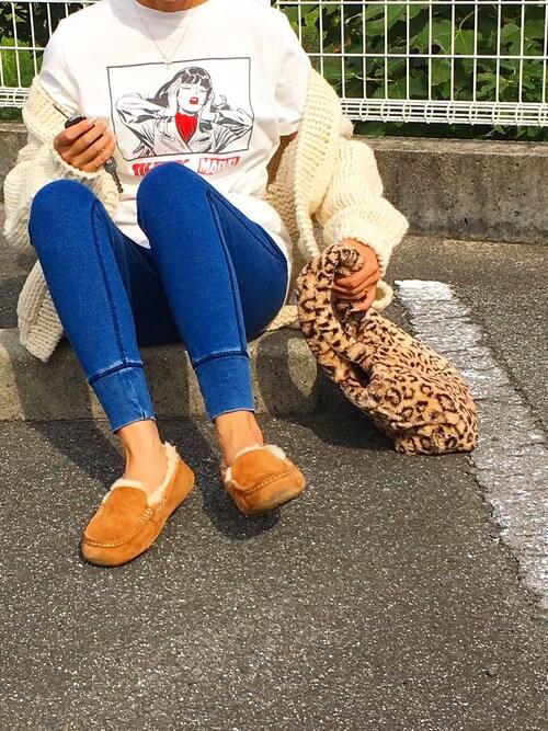 H&M  Tomomi   さんの「Hand Knit Cardigan(TODAYFUL)」を使ったコーディネート