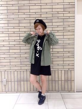 X-girl 名古屋|フクイ サチコさんの(X-girl|エックスガール)を使ったコーディネート