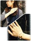 yumiさんの「Fortuna moon stretch bracelet limited stone/ブレスレット(con affetto(original)|コン アフェット)」を使ったコーディネート