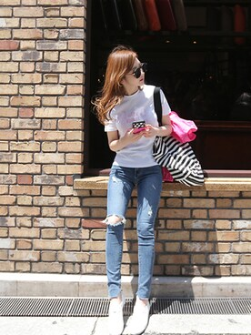 minsshop|minsshopさんの「メカンダTシャツ(2color)(minsshop)」を使ったコーディネート