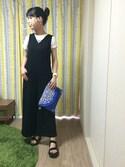 Eriさんの「Cotton emb clutch(Shikica Tokyo シキカ トウキョウ)」を使ったコーディネート