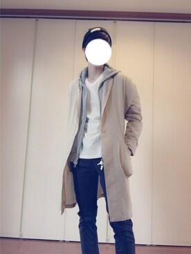 マサキさんの「MEN ライトウエイトフルジップパーカ(長袖)(ユニクロ|ユニクロ)」を使ったコーディネート
