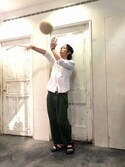shioさんの「Soccer JUNKY × TACHIKARA ボール(JUNRed|ジュンレッド)」を使ったコーディネート
