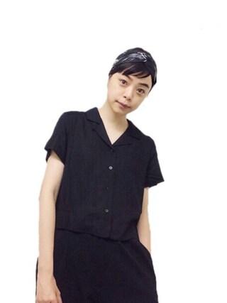 Kanocoさんの「パイピング半袖シャツ/721005(BLISS POINT|ブリスポイント)」を使ったコーディネート