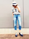 「FOREVER 21 Faux Suede Flatform Sandals(Forever 21)」 using this HARUKA looks