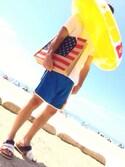 「LIGHTNING BOLT 'Seagull' Scalloped Hem Colorblock Board Shorts(Lightning Bolt)」 using this TAKya looks